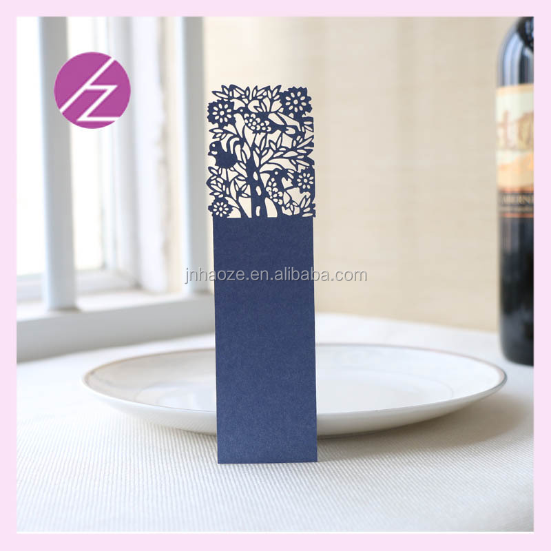 Laser Cut Tree Pearl Paper Bookmark Gift Card For Friend Party Souvenirs Customizable
