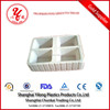 disposable plastic divided food tray cookies plastic trays packaging food grade plastic tray