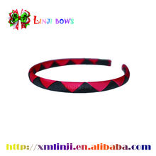 Hot selling Bright color custom ribbon bow simple style hair band for young girls