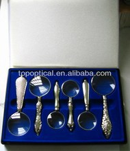 six sets magnifying glass gift magnifier 2x3x4x5x