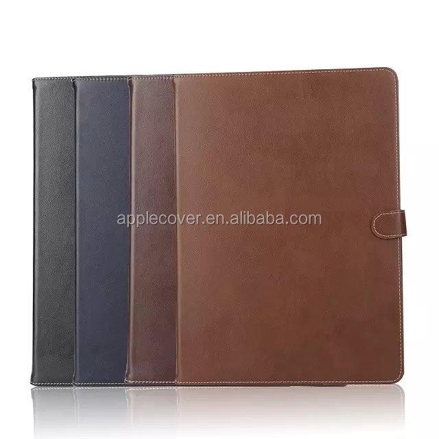 Business Style Genuine Leather Card Slots Case for iPad Pro with wake up/sleeping function , cover for iPad Pro
