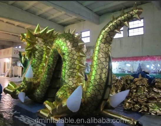 Inflatable giant dragon for advertisement, pvc inflatable dragon