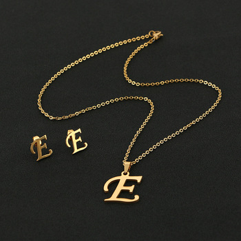 custom alphabet pendant necklace jewelry wholesale customizable letter earrings letter pendant necklace