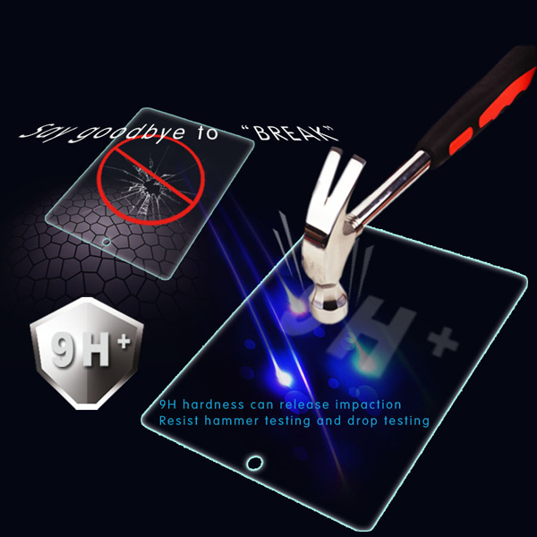 9h 2.5d edge explosion-proof tempered glass screen protector ipad 2 3 4 ipad air