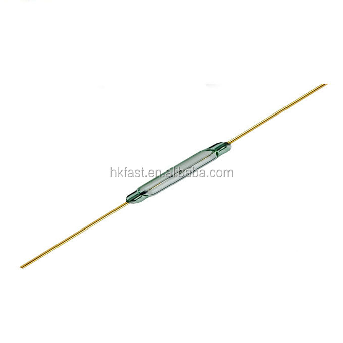MKA14103 Magnetic contact Reed Switch <strong>Sensor</strong> Normally Open N/<strong>O</strong> SPST <strong>2</strong> reeds Green glass tube fast shipping large inventory