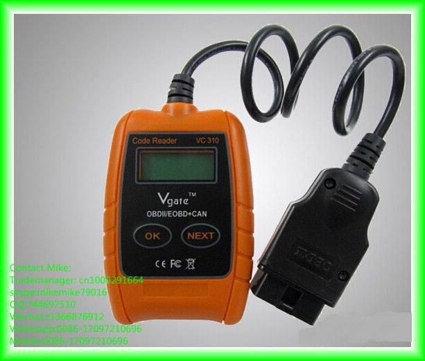 VC310 OBD2 OBDII EOBD CAN auto scanner Code Reader & Cleaner Car Diagnostic Tool professional universal auto diagnostic scanner