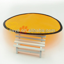 Hot Selling High Quality Flying Saucer <strong>Pet</strong> Soft Fold Dog <strong>Training</strong> Frisbee Cloth Material Disc Toys H1026