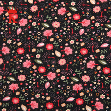 tree and flower pattern knitted 100% printed rayon fabric in thailand