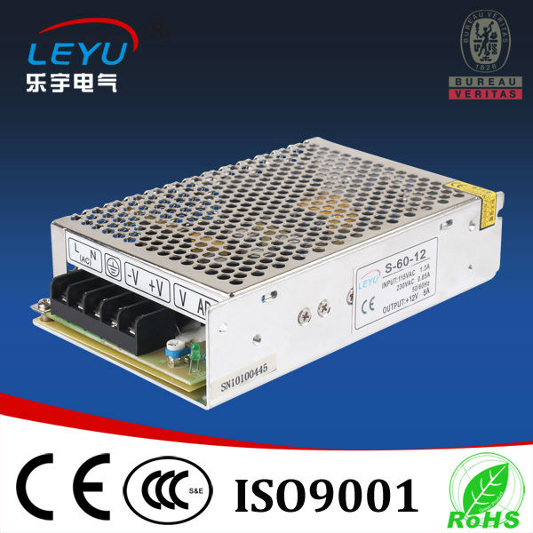 110V 220V input CE RoHS Certificated power supply S-60-12