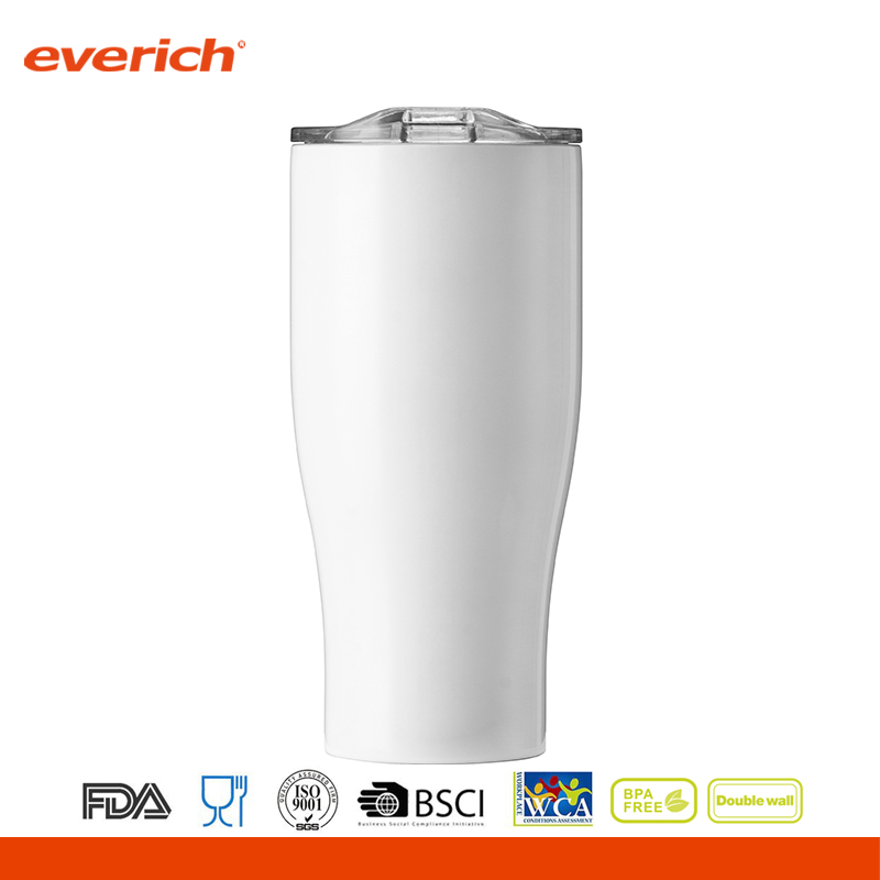 Low price of double wall stainless steel beer tumbler with power coated