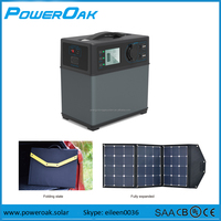 portable solar generator 220v lithium battery pack storage for home emergency and power tools