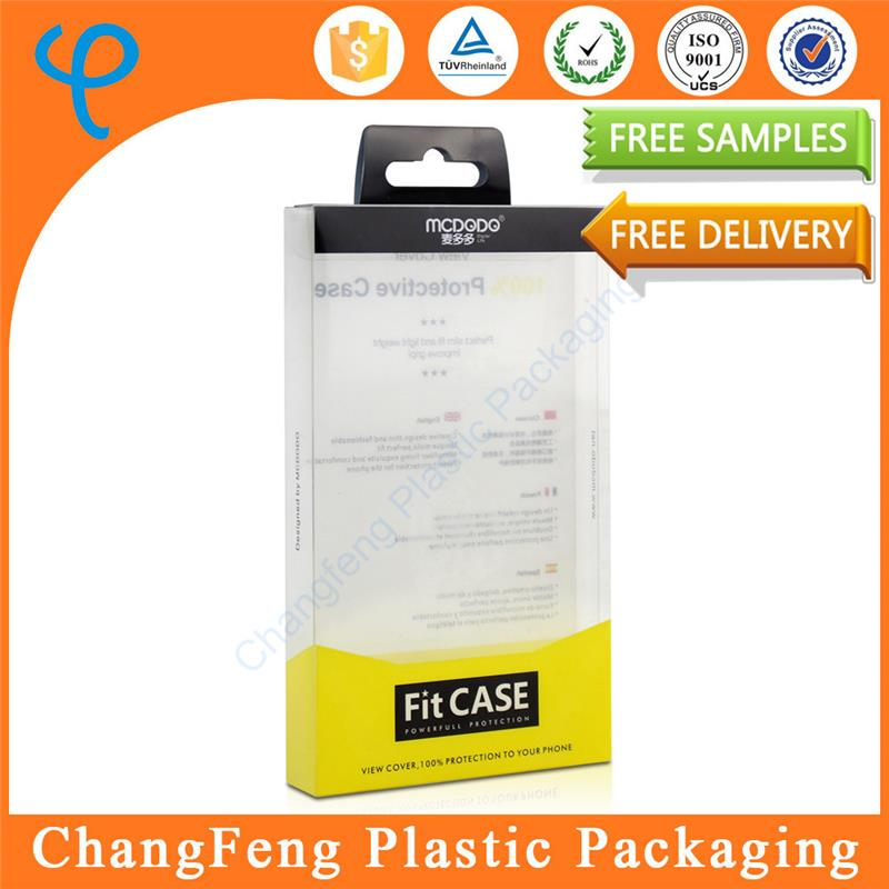 Disaposable plastic storage box with lock for cell phone case packaging