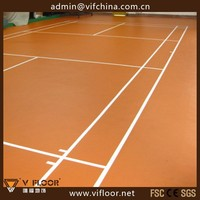 Indoor Tennis Volleyball Court Sport Flooring, Portable PVC Basketball Flooring