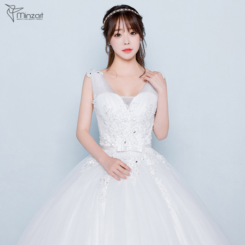 Minzart WD-DB0413 New design Alibaba China wedding dress factory 2017 new arrival A line wedding dress wholesale