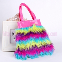 handbag manufacturers china kids fluffty bag
