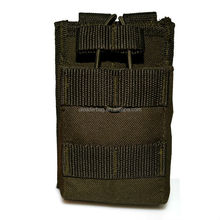Military Molle Open Top Walkie Talkie Small Single Magazine Pouch For Tactical Mag Bag