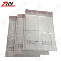 Plain White Poly Bubble Plastic Bag
