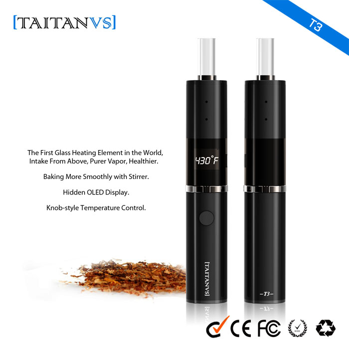 Purer Vapor Glass Heating Tube Smoke Electronic Herbal Vaporizer Dry Herb