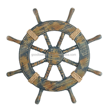 Modern ship wheel nautical wooden flax rope wall decor/wall decorations