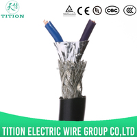 UL2405 2 core 24 awg PVC insulation spiral shielded wires and cables electrics