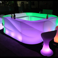 Square designed bistro lighting table furniture beautiful illuminated led bar counter