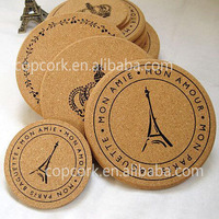 cup coaster & Natural cup coaster & cork pad