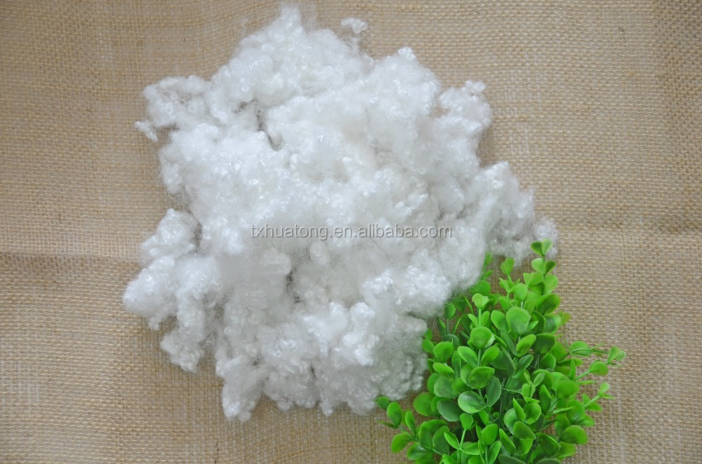 recycle hollow conjugated siliconized polyester fiber 7D/15D/3DX64MM