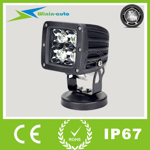 Automobiles motorcycles 12w auto led work lights 12v spot beam led works lamp for bike motorcycle 12w 18w 24w led