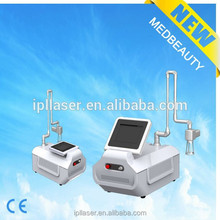 On sell 2015 Alibaba Express fractional co2 laser equipment with RF metal tube 10600nm co2 skin peeling laser system