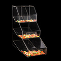 wholesale candy clear acrylic compartment display box
