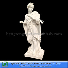 Beauty White Marble Girl Statue Playing Violin