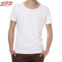Wholesale OEM/ODM Sportswear Man Fashion Bulk Blank Bamboo T Shirt