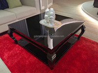Customized high end high gloss wood low sofa center table coffee table