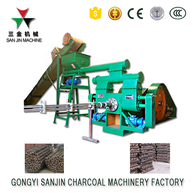 Motor warranty 8 years biomass rice husk stamping briquette extruder machine for BBQ