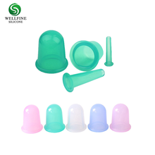 Factory Cupping Therapy Set, Gentle Ventouse Massage Silicone Cupping Cups