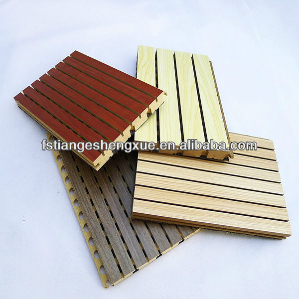 Fireproof Wood MDF veneer sound proofing wall portable acoustic treatment