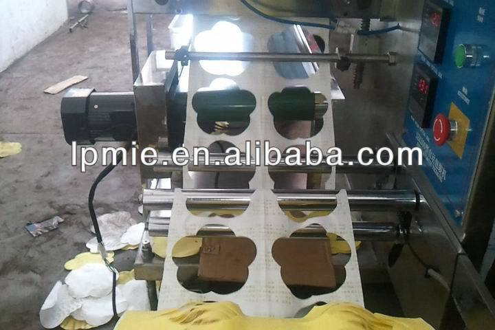 plum shape adhesive warmer pod packaging machine