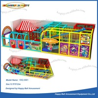 Two layers indoor playground type galvanized pipe frame soft naughty castle kids game on sale
