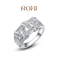 ROXI White Gold Braid Exquisite Engagement Ring