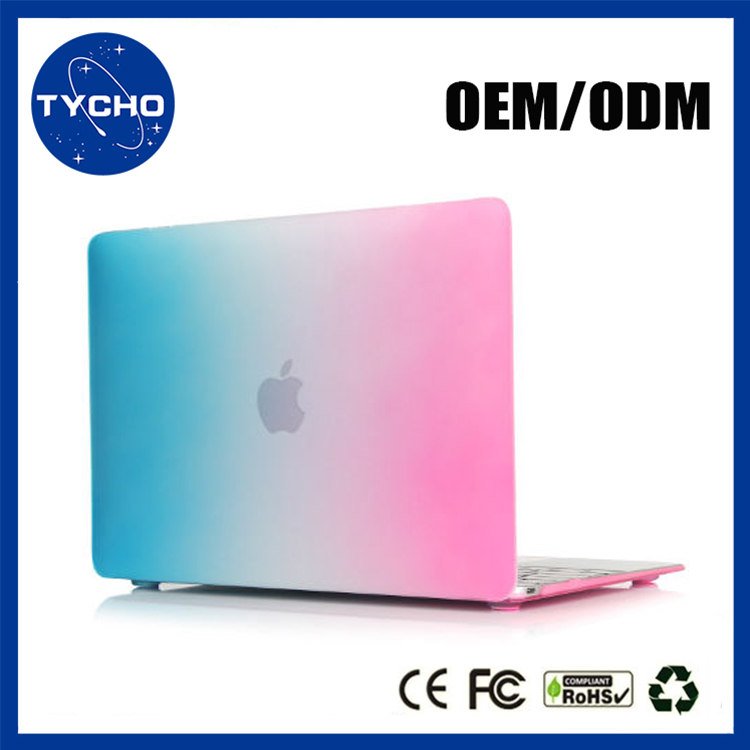 Alibaba Wholesale Rainbow Matte Case Rubberized Laptop Case For Apple Macbook Air Crystal Computer Case For Macbook Air 11.6