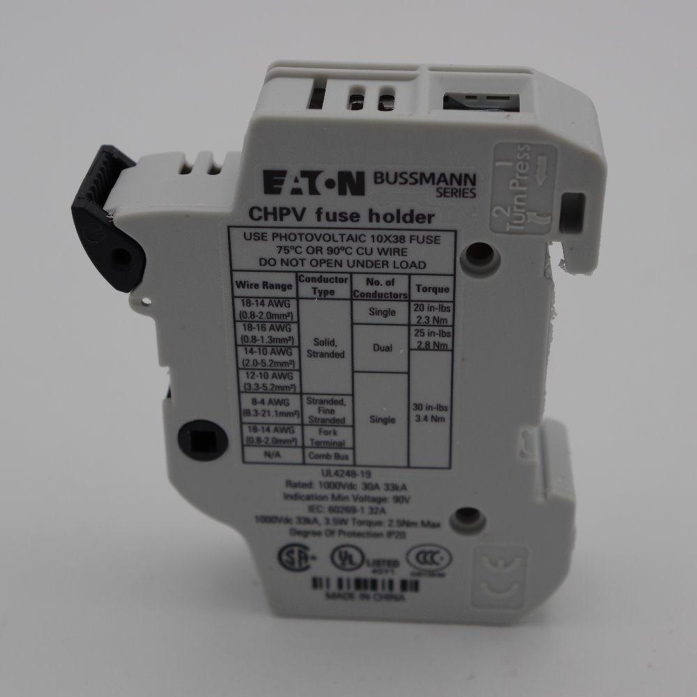 Wholesale Fuse Holder And Fuses Online Buy Best Bussmann Box Factory Price 1000vdc Class Cc Chpv1u