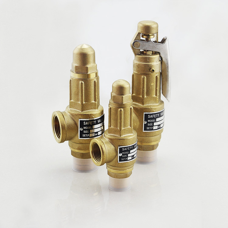 Spring Full Lift Threaded Connection Brass Air Compressor Pressure Safety Relief Valves