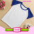 Raglan t shirt blank cotton 3/4 sleeve kids children blank raglan t shirt wholesale