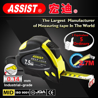 3m 5m 7.5m ABS+TPR autologic assist plus measuring tape construction tools