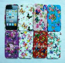 flower TPU rubber soft case skin cover for iphone 4 4G