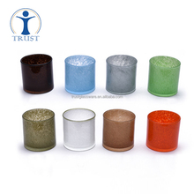 decoration tealight frosted candle glass