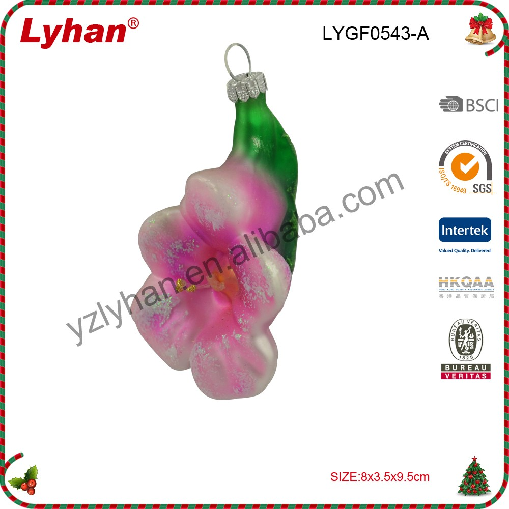 glass hand painted hanging flower for home decoration