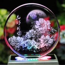 Hot selling laser engraved crystal wedding gifts souvenirs