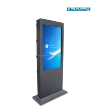 82 Inch information display kiosk floor standing wireless wifi digital signage