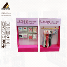 Ladies Underwear Hook Stands Cardboard Peghook Display Pedestals